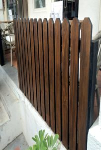 Chengal Timber fence