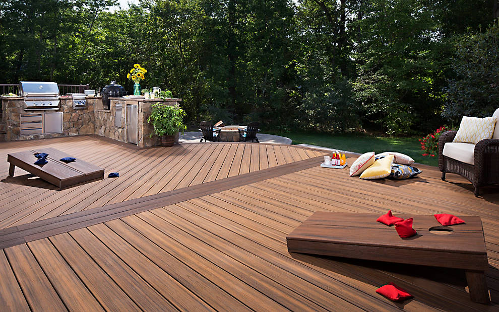 Composite decking 25 years warranty singapore trex for Best composite decking brand 2016