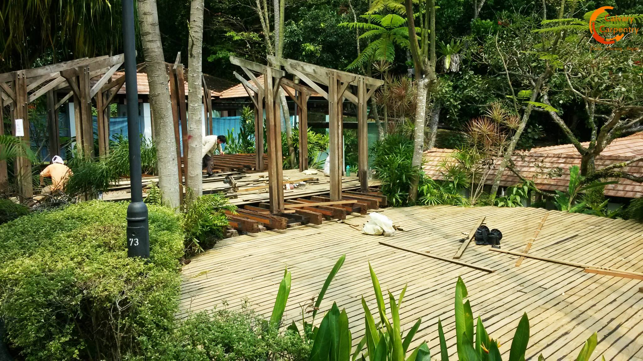 removal of decking