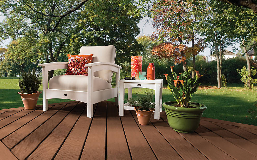 Trex contour decking 25 years warranty calvary carpentry for Redwood vs composite decking