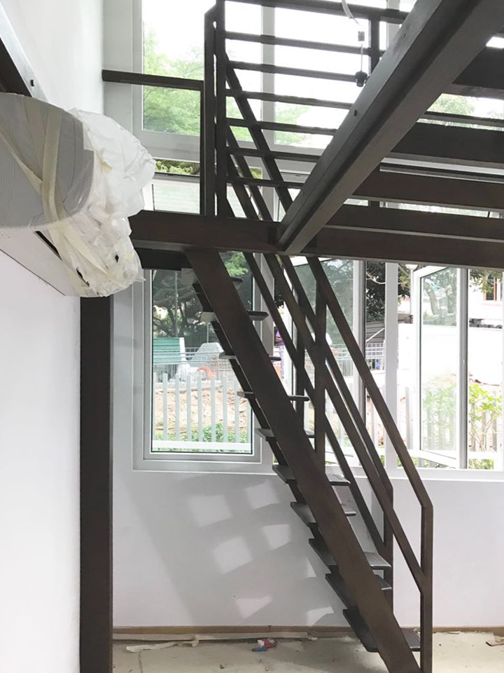 Timber Loft with stairs